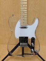 Haze HSE-218 Transparent Acrylic TC Electric Guitar w/Show LED Lights+Free Bag