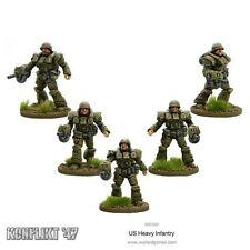 Bolt Action - Konflikt '47: US Heavy Infantry, 5 figures, 28mm Weird WWII