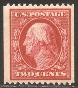 U.S. #386 Mint VF NH - 2c Carmine, P12 Coil ($280)