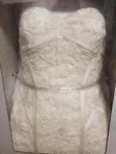 TRULY ZAC POSEN TULLE MERMAID WEDDING DRESS SZ 4