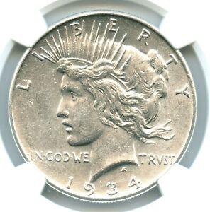 1934 Peace Dollar, NGC AU58