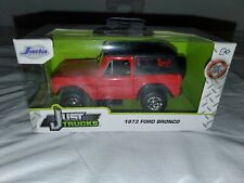 New ListingNew Jada Toys Just Trucks 1973 Ford Bronco Red DieCast 1 32 Free Shipping
