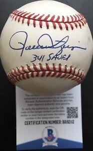 """Rollie Fingers """"341 Saves"""" Signed American League Baseball, BAS COA"""
