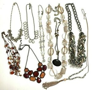 Vintage to Now Jewelry Necklace Lot Mixed Wearable Sellable Crafting Some Signed