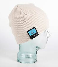 Freestyle Smart Beanie - Bluetooth Hat HD Speakers & Mic - Cream Fine Rib Design
