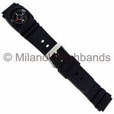 18mm Speidel Compass Black Rubber Mens Sports Watch Band 775