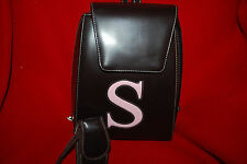 Letter S Backpack Purse Bag Accessoary Pouch Brown Pink  Free Shipping