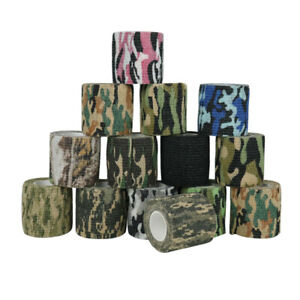 5Roll Camo Wrap Camouflage Tape For Rifle Gun Hunting Stealth Concealment Random