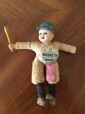 Brooklyn Dodgers 1950's Doll / Figure Vintage With Original Pin Very