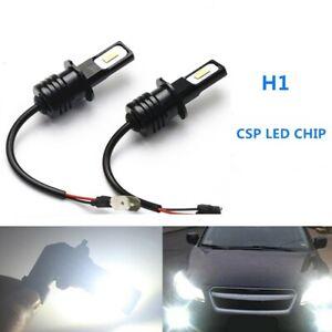 H1 CSP LED Headlights Bulbs Kit High Low Beam DRL Super Bright White 6000LM