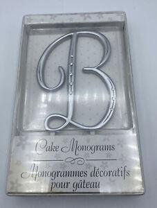 """Cake Topper Wedding Lillian Rose Rhinestone Monogram Letter B  Silver (NEW) 5"""""""