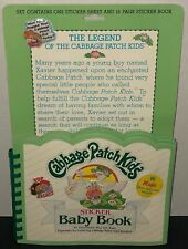 Cabbage Patch Kids Doll Sticker Baby Records Book 1983 Puffy Reusable Stickers