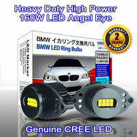 160W Heavy Duty High Power BMW E90 LCI E91 LCI CREE LED Angel Eyes 7000K White