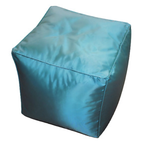 FILLED BEAN CUBE FOOTSTOOL / POUFFE / BEANBAG Use Indoors or Outdoors 2 Colours