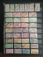 BELGIUM 1923 Railway Stamps, Collection 39 used Stamps values to 20f.