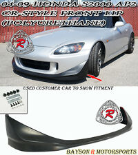 CR-Style Front Lip (Urethane) Fits 04-09 Honda S2000 AP2