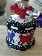 Ceramic DOG canister by Joanna delomba