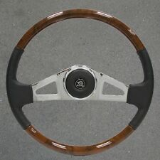VIP 25 New 18 inch Wood and Chrome and Leather Peterbilt Steering Wheel