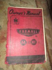 International Farmall M Mv owners Vintage Tractor Manual book