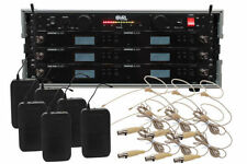 Shure BLX14R/HS-06 6 Pack Wireless EarSet Mic System with VRL Power & Rack Case