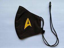 Adjustable Gold Star Trek GQ Style Black Face Mask Nano-Polyester Anti-Microbial