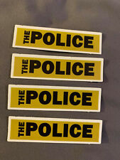 "Lot of 4 The Police 3/4"" x 3"" Band Logo Sticker Black White Fast Ship! Sting"