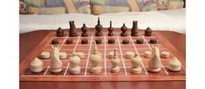 TRADITIONAL CAMBODIAN CHESS (OUK or OK CHATRANG, THAI MAKRUK) K=3½ (M15 brown)