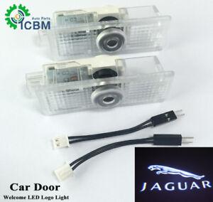 2x LED Door Welcome Goast Shadow Courtesy Laser Logo Lights For Jaguar XE F-Type