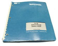 Operators Manual Tektronix 7L18 Spectrum Analyzer Plugin, 7000er Oszilloskope