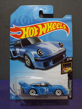 2018 HOT WHEELS PORSCHE 934.5 in Blue - HW NIGHTBURNERZ Series 2/10 Long Card