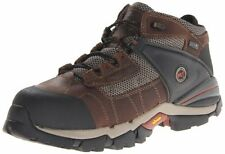 """Timberland PRO Mens Hyperion 4 """" Alloy Toe Work Boot Brown Leather Fabric 11 W"""