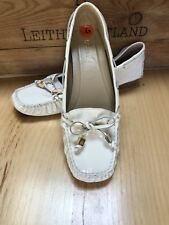 NWOB Michael Kors Off White Patent Leather Loafers