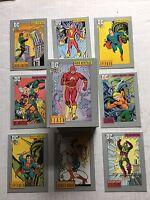 DC Cosmic Comics 1991 Impel Trading Card Set NM/M Condition Superman Flash