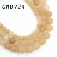 Wholesale Matte Yellow Citrines Quartzs Loose Beads for Jewelry Making 6/8/10mm