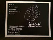 Original 1980 STARDUST MEMORIES Half Sheet Movie Poster 22 x 28 Woody Allen