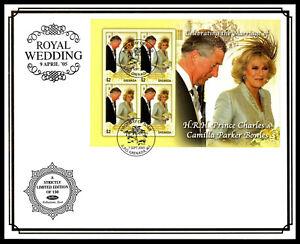 GRENADA - 2005 Royal Wedding M/S: Benham FDC + Grenada Pictorial FDI H/S #2