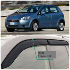 FE20605 Window Visors Vent Wide Deflectors For Fiat Grande Punto 5d 2005-2009
