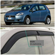 Wide Window Visors Side Guard Vent Deflectors For Fiat Grande Punto 5d 2005-2009