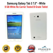 "Samsung Galaxy Tab 3 7"" 8 GB White No Carrier Tested Working B Grade Tablet"
