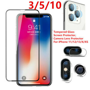 Tempered Glass Screen Protector Camera Lens For iPhone 13 12 11 Pro X XR XS Max