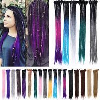 100% Natural Dreadlocks Crochet Braids Sew in Locs Dreads Reggae Hair Extensions