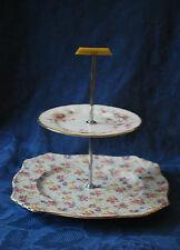 """Art DECO royal Winton Grimwades """"eleanor"""" & PARAGON - 2 échelonné gâteau stand # 514"""
