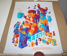 "Tom Whalen ""The Lego Movie"" Mondo Movie Poster Print - 1st Edition Numbered"