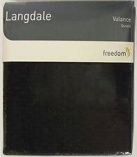 Black Quilted Valance wrap bedskirt QUEEN Size Langdale Quality Cotton Freedom