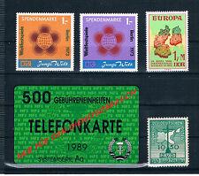 DDR, Weltfestspiele Mi.Nr. 1+2, Europavignette1990,Bad Harzburg 1950,Tel.-karte