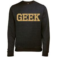 Geek para hombre impresa Retro Nerd Eslogan Jersey Sudadera