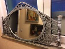 Antiker Art Deco Spiegel schmiedeeisern Frankreich 1930