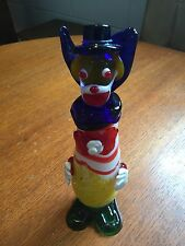 "vintage art glass murano italy clown figurine 9"" tall"