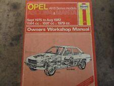 buy ascona workshop manuals paper car manuals and literature ebay rh ebay co uk