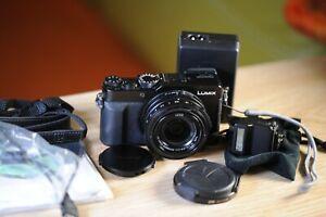 Panasonic Lumix DMC-LX100 DIGITAL CAMERA+ EXTERNAL FLASH+ EXTRA LENS CAP